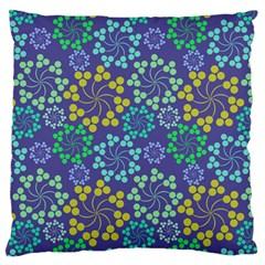 Color Variationssparkles Pattern Floral Flower Purple Large Flano Cushion Case (one Side) by Jojostore