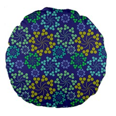 Color Variationssparkles Pattern Floral Flower Purple Large 18  Premium Flano Round Cushions by Jojostore