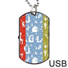 Deer Animals Swan Sheep Dog Whale Animals Flower Dog Tag Usb Flash (two Sides) by Jojostore