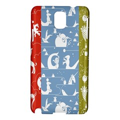 Deer Animals Swan Sheep Dog Whale Animals Flower Samsung Galaxy Note 3 N9005 Hardshell Case by Jojostore