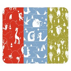 Deer Animals Swan Sheep Dog Whale Animals Flower Double Sided Flano Blanket (small)  by Jojostore