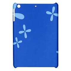 Flower Floral Blue Apple Ipad Mini Hardshell Case by Jojostore