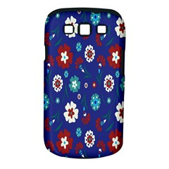 Flower Floral Flowering Leaf Blue Red Green Samsung Galaxy S Iii Classic Hardshell Case (pc+silicone) by Jojostore