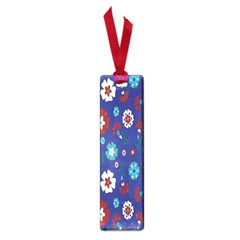 Flower Floral Flowering Leaf Blue Red Green Small Book Marks by Jojostore