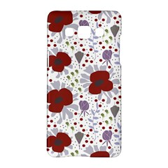 Flower Floral Rose Leaf Red Purple Samsung Galaxy A5 Hardshell Case  by Jojostore