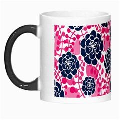 Flower Floral Rose Purple Pink Leaf Morph Mugs by Jojostore