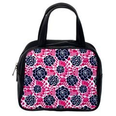 Flower Floral Rose Purple Pink Leaf Classic Handbags (one Side) by Jojostore