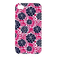 Flower Floral Rose Purple Pink Leaf Apple Iphone 4/4s Premium Hardshell Case by Jojostore