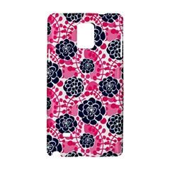 Flower Floral Rose Purple Pink Leaf Samsung Galaxy Note 4 Hardshell Case