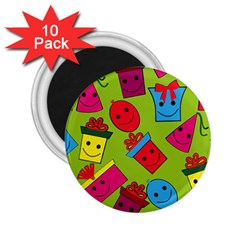 Happy Birthday Background 2 25  Magnets (10 Pack)  by Jojostore