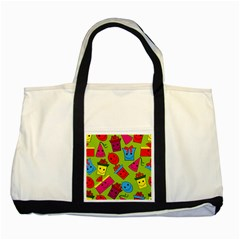 Happy Birthday Background Two Tone Tote Bag by Jojostore