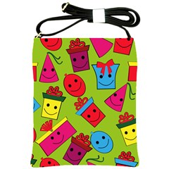 Happy Birthday Background Shoulder Sling Bags by Jojostore