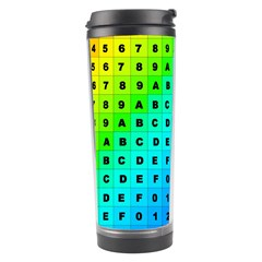 Letters Numbers Color Green Pink Purple Travel Tumbler by Jojostore