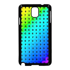 Letters Numbers Color Green Pink Purple Samsung Galaxy Note 3 Neo Hardshell Case (Black) by Jojostore