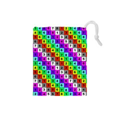 Mapping Grid Number Color Drawstring Pouches (small)  by Jojostore