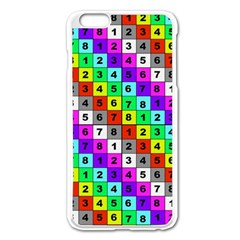 Mapping Grid Number Color Apple iPhone 6 Plus/6S Plus Enamel White Case