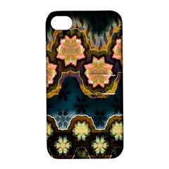 Ornate Floral Textile Apple Iphone 4/4s Hardshell Case With Stand by Jojostore