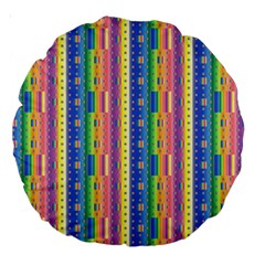 Psychedelic Carpet Large 18  Premium Round Cushions by Jojostore
