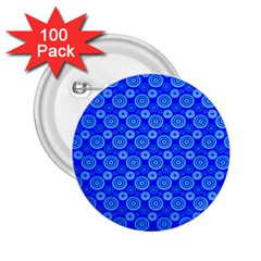 Neon Circles Vector Seamles Blue 2.25  Buttons (100 pack)  by Jojostore
