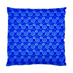 Neon Circles Vector Seamles Blue Standard Cushion Case (one Side) by Jojostore