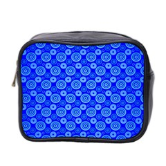 Neon Circles Vector Seamles Blue Mini Toiletries Bag 2 Side by Jojostore