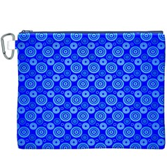 Neon Circles Vector Seamles Blue Canvas Cosmetic Bag (xxxl) by Jojostore