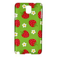 Strawberries Flower Floral Red Green Samsung Galaxy Note 3 N9005 Hardshell Case
