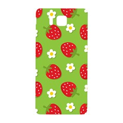 Strawberries Flower Floral Red Green Samsung Galaxy Alpha Hardshell Back Case by Jojostore