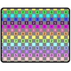 Test Number Color Rainbow Fleece Blanket (medium)  by Jojostore