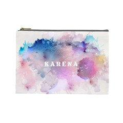 Watercolor Stains Cosmetic Bag (large) by makeunique