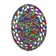 We Need More Colors 35c Oval Filigree Ornament (two Sides) by MoreColorsinLife