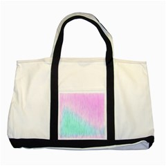 Pink Green Texture                                                       two Tone Tote Bag by LalyLauraFLM