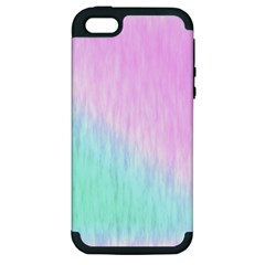 Pink Green Texture                                                      			apple Iphone 5 Hardshell Case (pc+silicone) by LalyLauraFLM