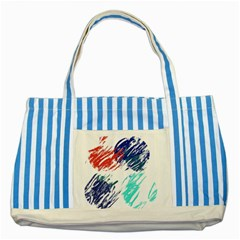 Scribbles                                                       			striped Blue Tote Bag by LalyLauraFLM