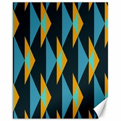 Yellow Blue Triangles Pattern                                                        canvas 16  X 20