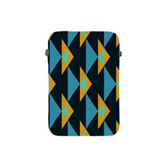 Yellow blue triangles pattern                                                       			Apple iPad Mini Protective Soft Case