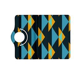 Yellow blue triangles pattern                                                       Kindle Fire HD (2013) Flip 360 Case by LalyLauraFLM