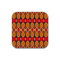 Ovals Pattern                                                         			rubber Square Coaster (4 Pack by LalyLauraFLM