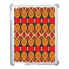 Ovals pattern                                                        Apple iPad 3/4 Case (White) by LalyLauraFLM