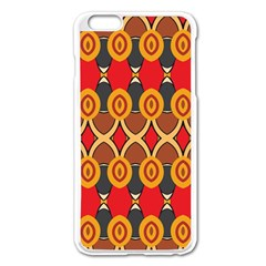 Ovals Pattern                                                        			apple Iphone 6 Plus/6s Plus Enamel White Case by LalyLauraFLM