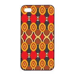 Ovals Pattern                                                        			apple Iphone 4/4s Seamless Case (black) by LalyLauraFLM