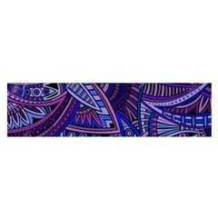 Abstract Electric Blue Hippie Vector  Satin Scarf (oblong) by Brittlevirginclothing