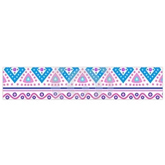 Tribal Pastel Hipster  Flano Scarf (small) by Brittlevirginclothing