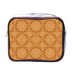 Intricate Modern Baroque Seamless Pattern Mini Toiletries Bags by dflcprints