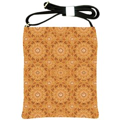 Intricate Modern Baroque Seamless Pattern Shoulder Sling Bags by dflcprints