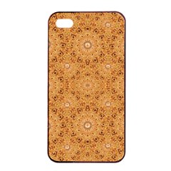 Intricate Modern Baroque Seamless Pattern Apple Iphone 4/4s Seamless Case (black) by dflcprints
