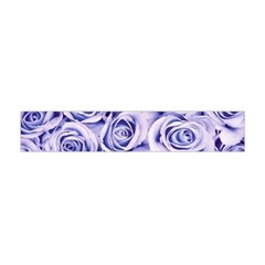 Electric White And Blue Roses Flano Scarf (mini) by Brittlevirginclothing