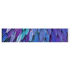 Blue Bird Feather Flano Scarf (small) by Brittlevirginclothing