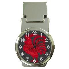Red Fire Chicken Year Money Clip Watches by Valentinaart