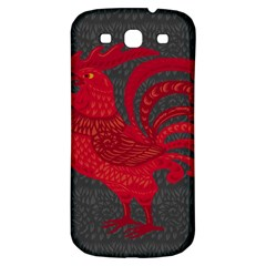 Red Fire Chicken Year Samsung Galaxy S3 S Iii Classic Hardshell Back Case by Valentinaart
